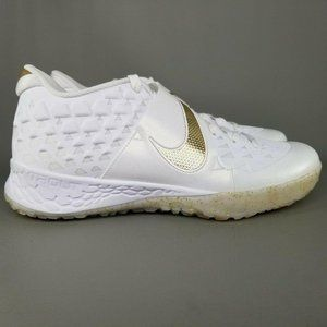 Nike Mens Force Zoom Trout 6 Turf Shoes 12 White